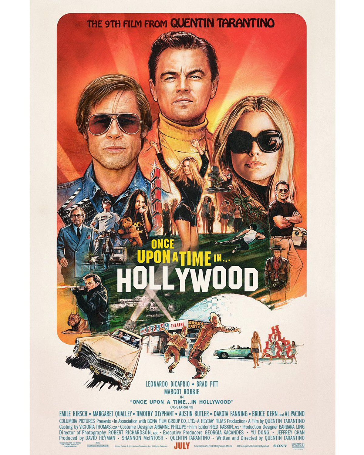 Check Out The New Poster For Quentin Tarantino's ONCE UPON A TIME IN HOLLYWOOD-social