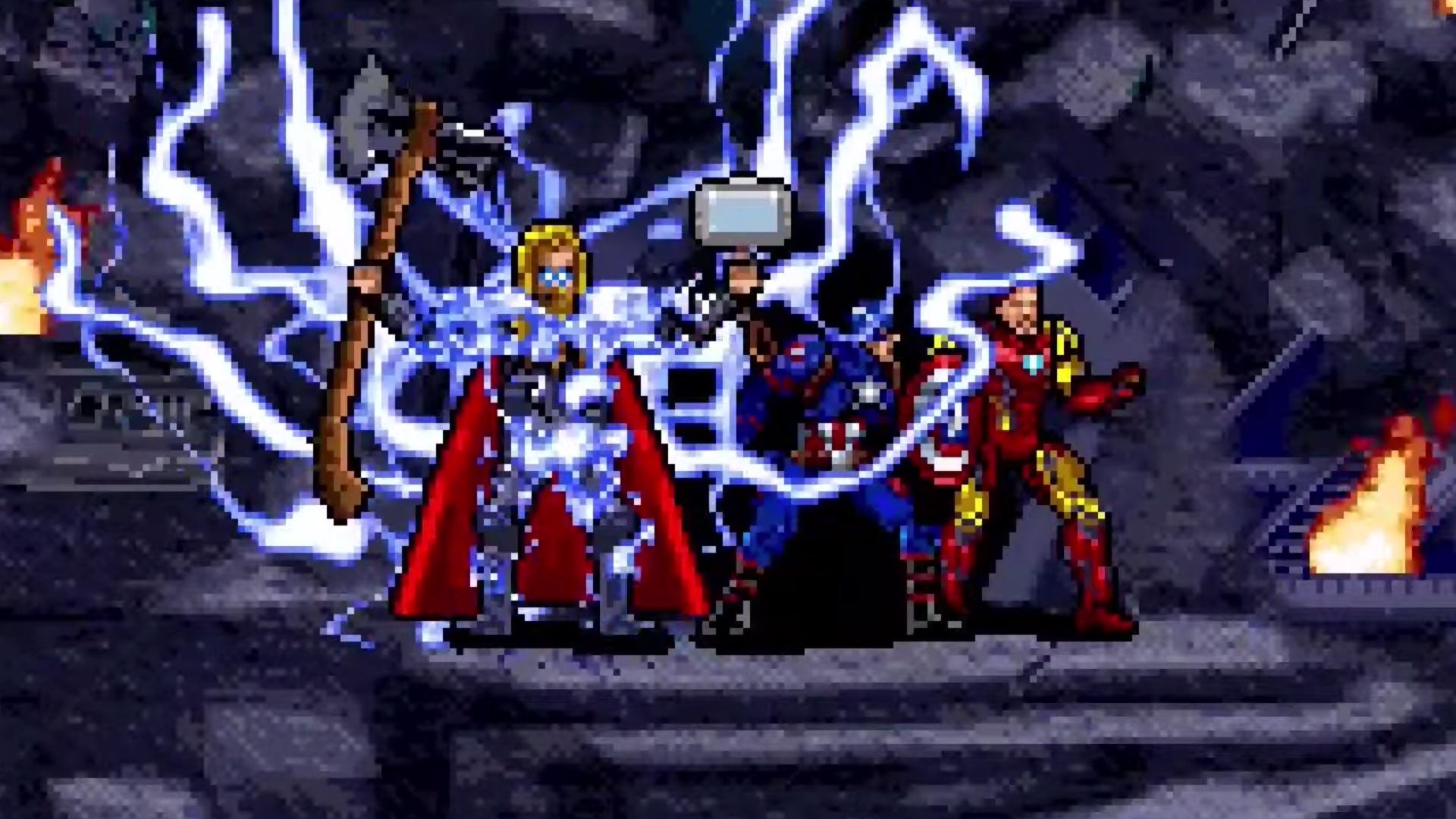 Watch The Avengers Endgame Final Battle In 16 Bit Glory Geektyrant
