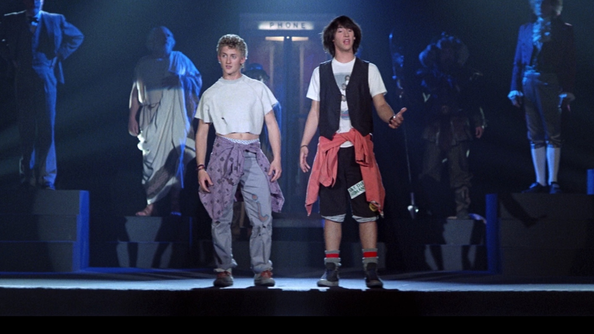 Set Photo From BILL & TED FACE THE MUSIC Feature Keanu Reeves and Alex Winter