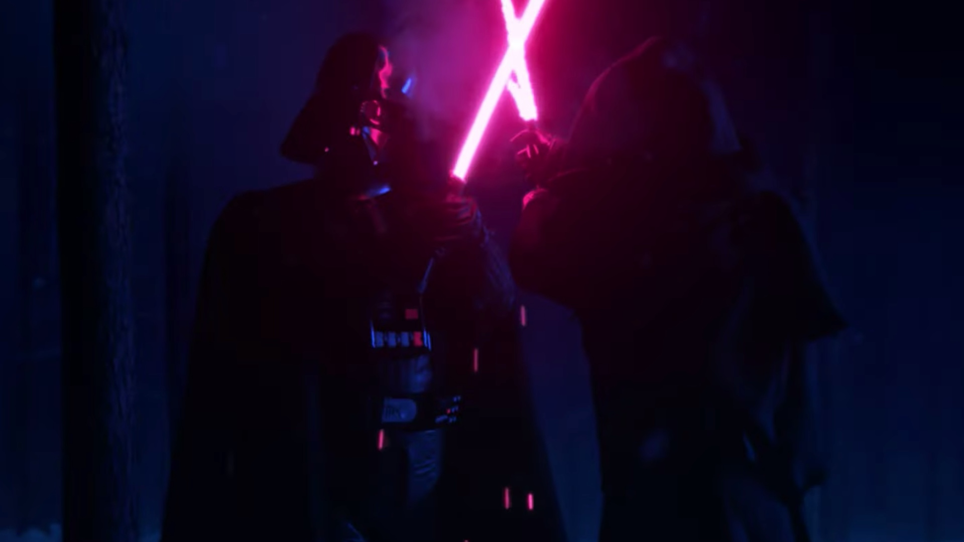 Darth Vader And Kylo Ren Fight In Force Of Darkness Fan Film