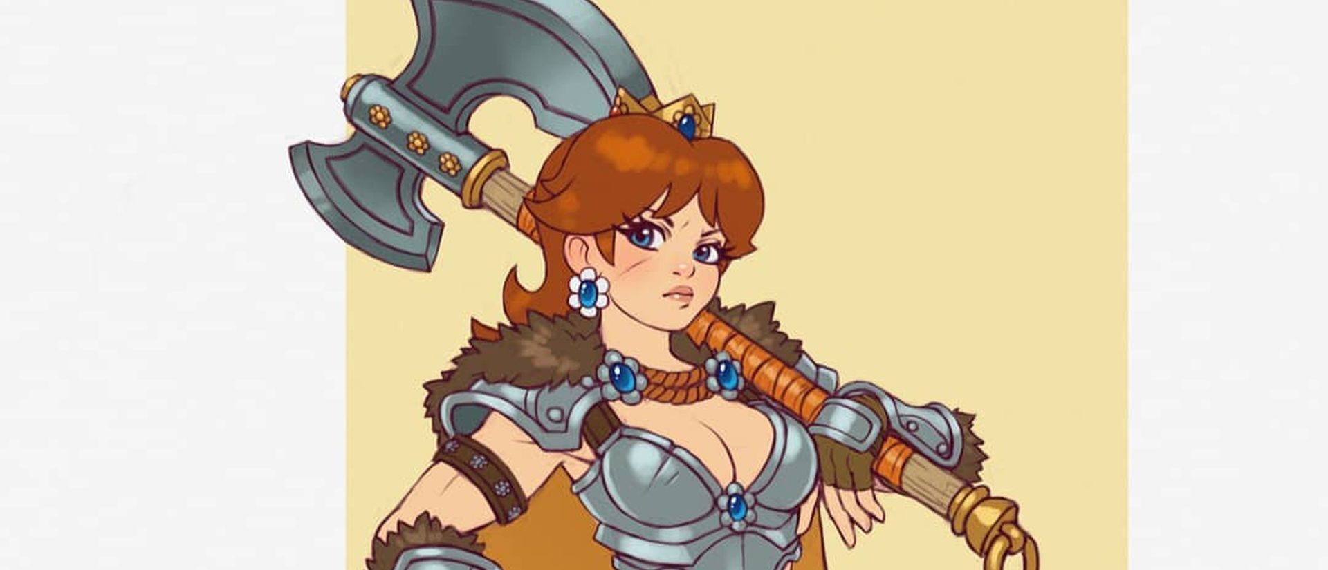 Fan Art Imagines Daisy From Super Mario As A Fearsome Warrior