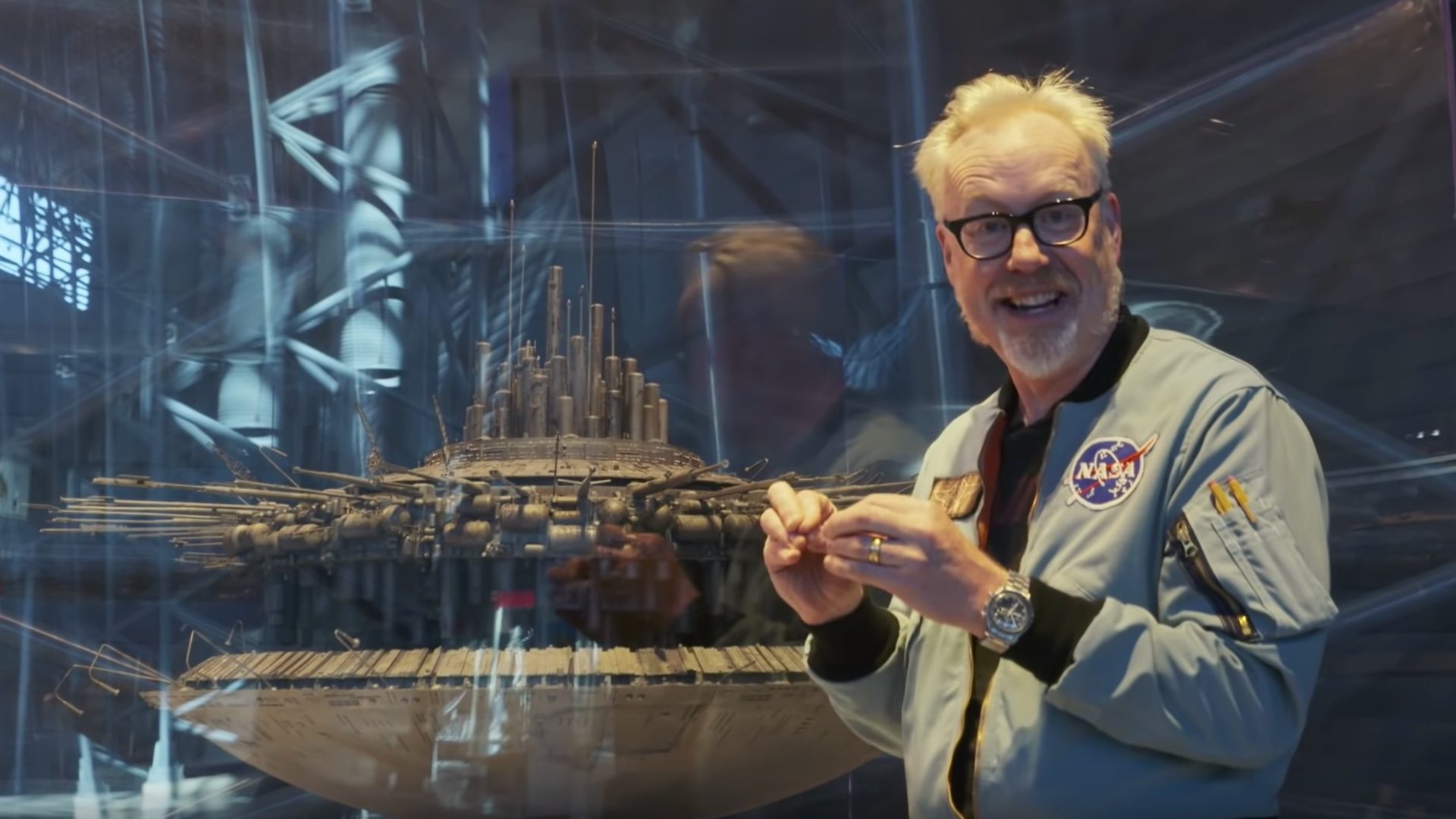 Adam Savage Examines The Awesome Detail Of The Mother Ship Model