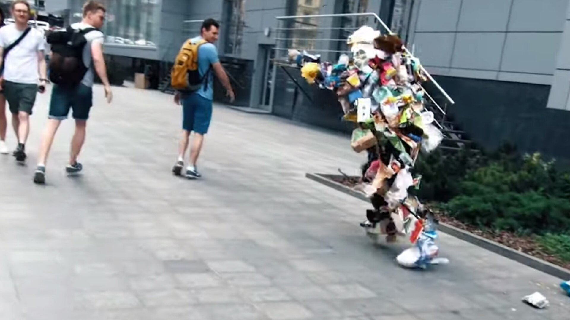 A Pile of Trash Rises up To Scare The Crap Out of People on the ...