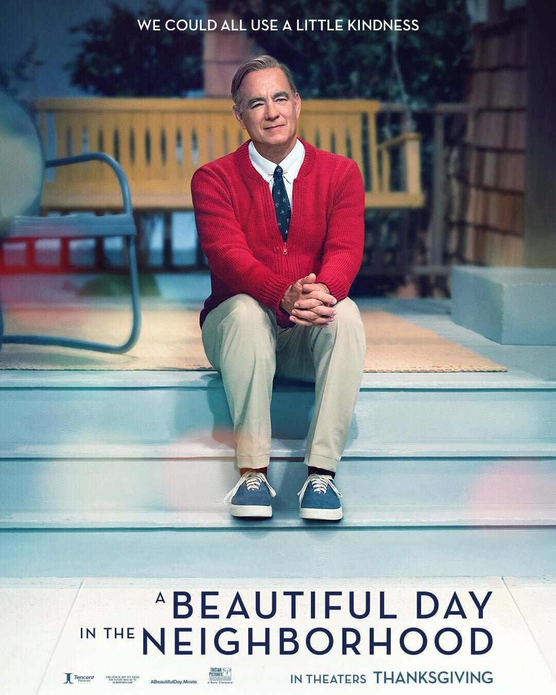 New Poster For A Beautiful Day In The Neighborhood Features Tom Hanks As Fred Rogers Geektyrant