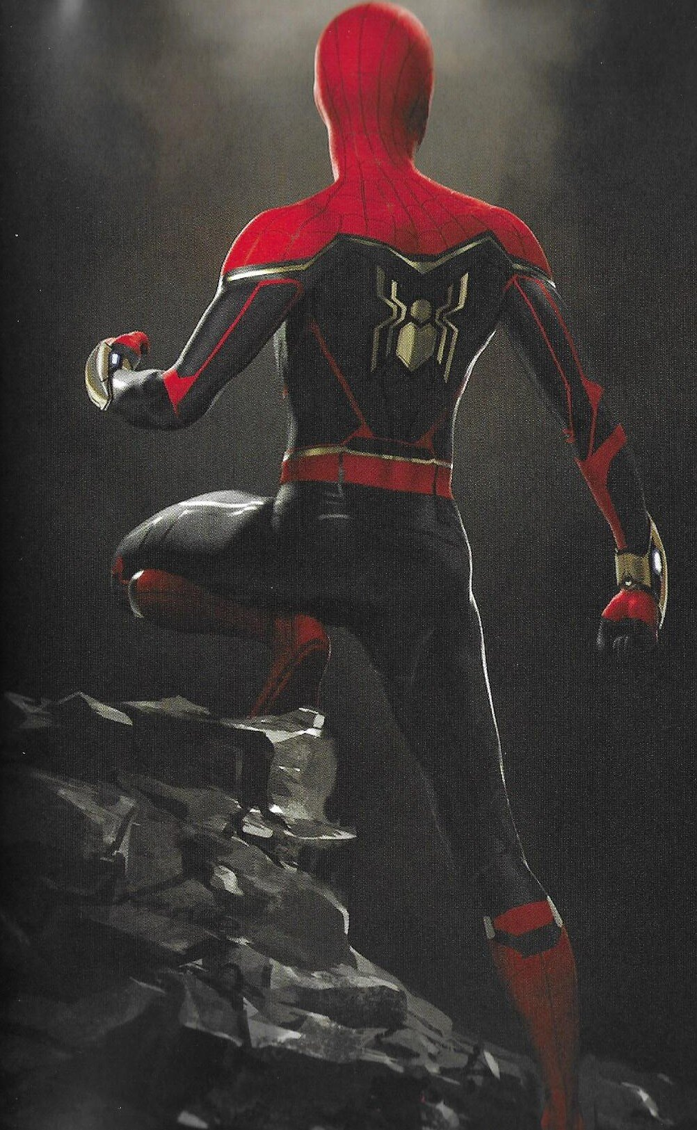 Lots Of Cool Concept Art For Spider Man Far From Home Features Hulkbuster Style Mysterio Suit Alternate Spidey Suits And Illusion Landscapes Geektyrant
