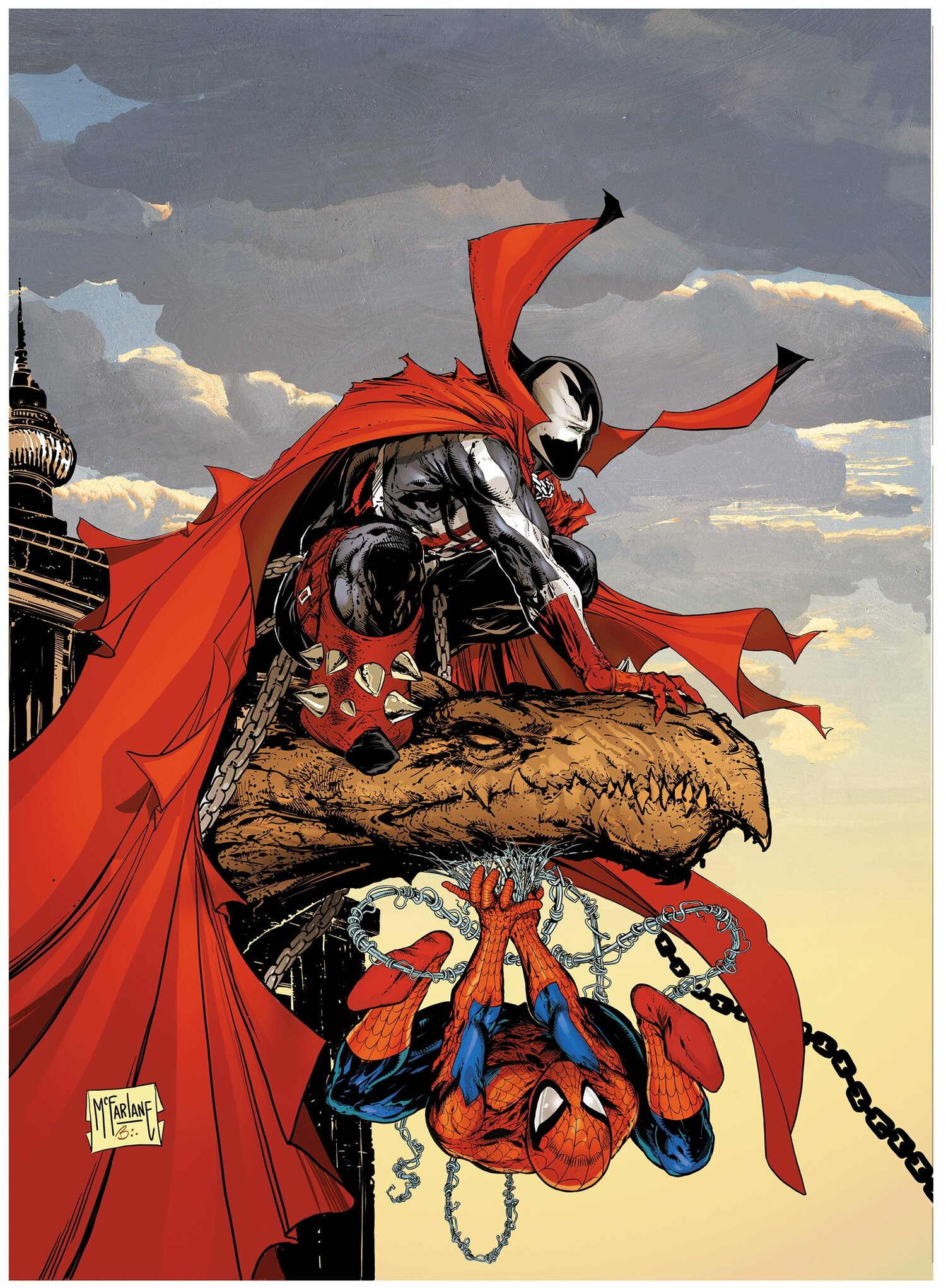 Todd Mcfarlane Brings Spawn And Spider Man Together For The First Time In Comic Art Geektyrant