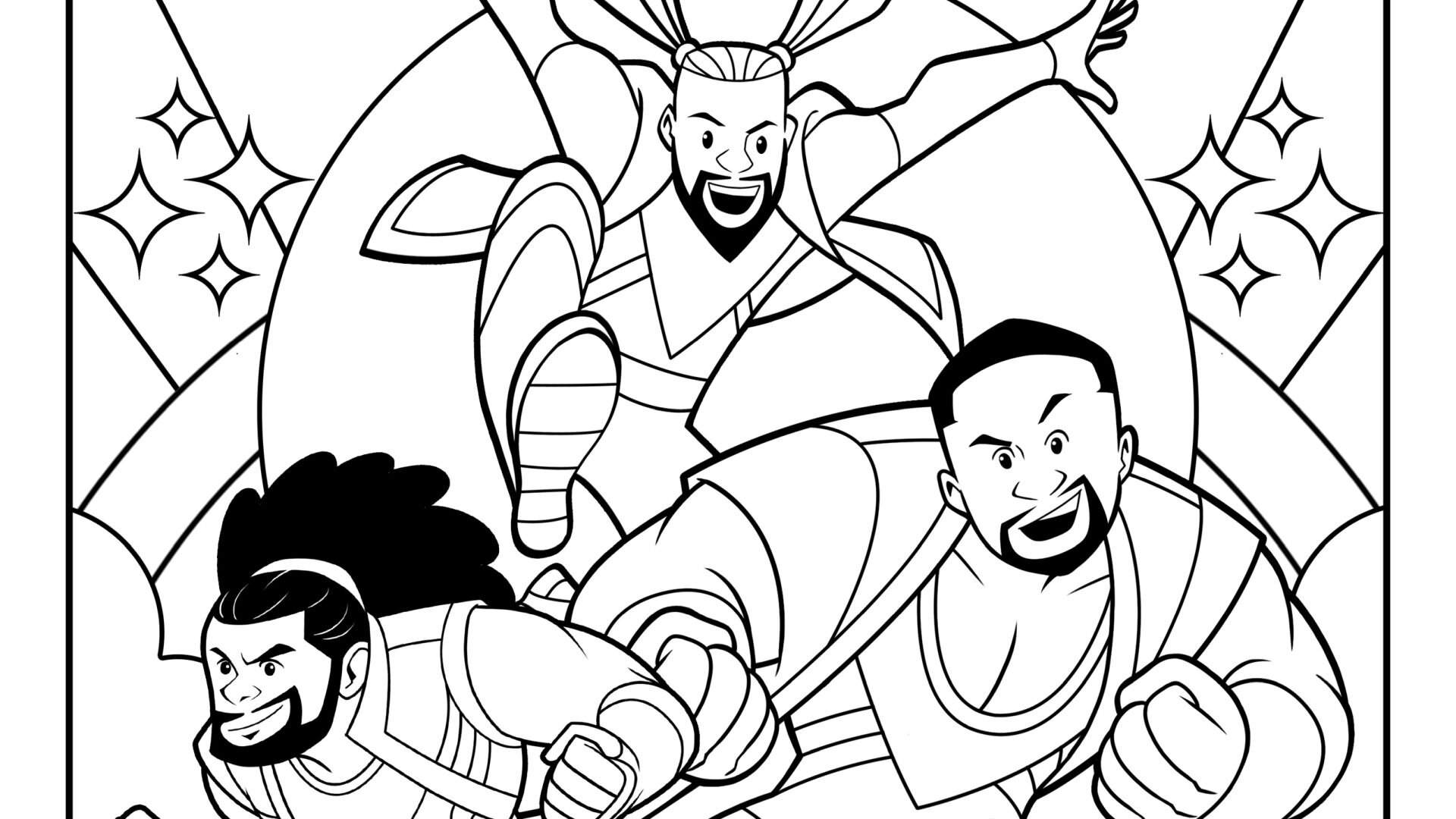 Get Your Wwe Fix With These Free The New Day Coloring Pages Geektyrant