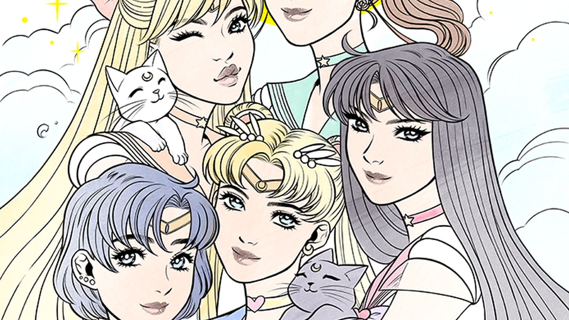 Sailor Moon colouring page - Coloring Library | 1080x1920