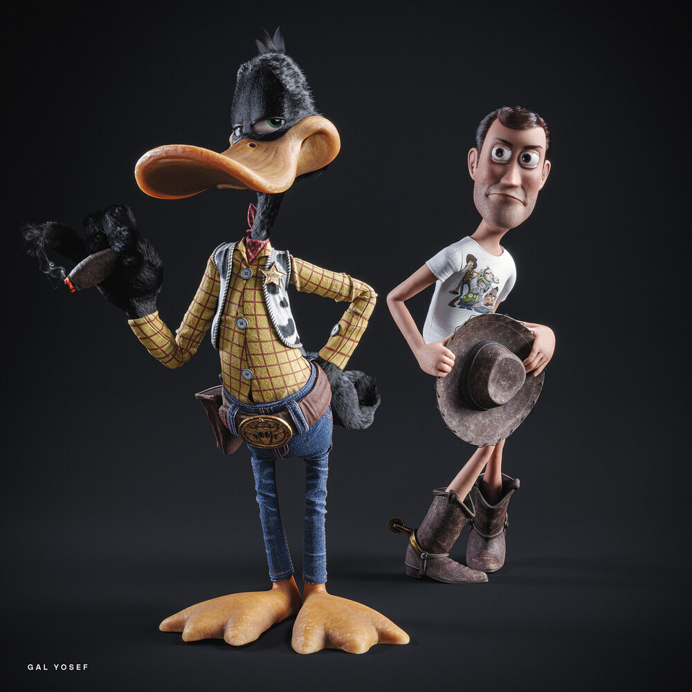 daffy-duck-steals-woodys-look-from-toy-story-in-fun-fan-art2