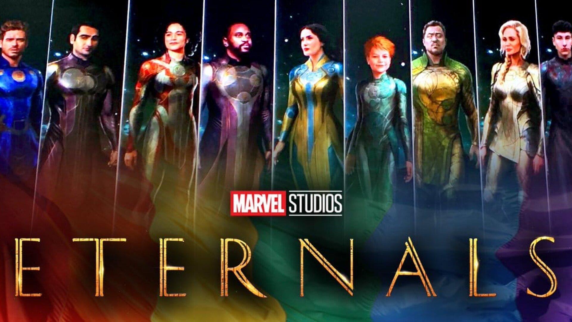 Marvel Eternals Movie Poster Teams Background