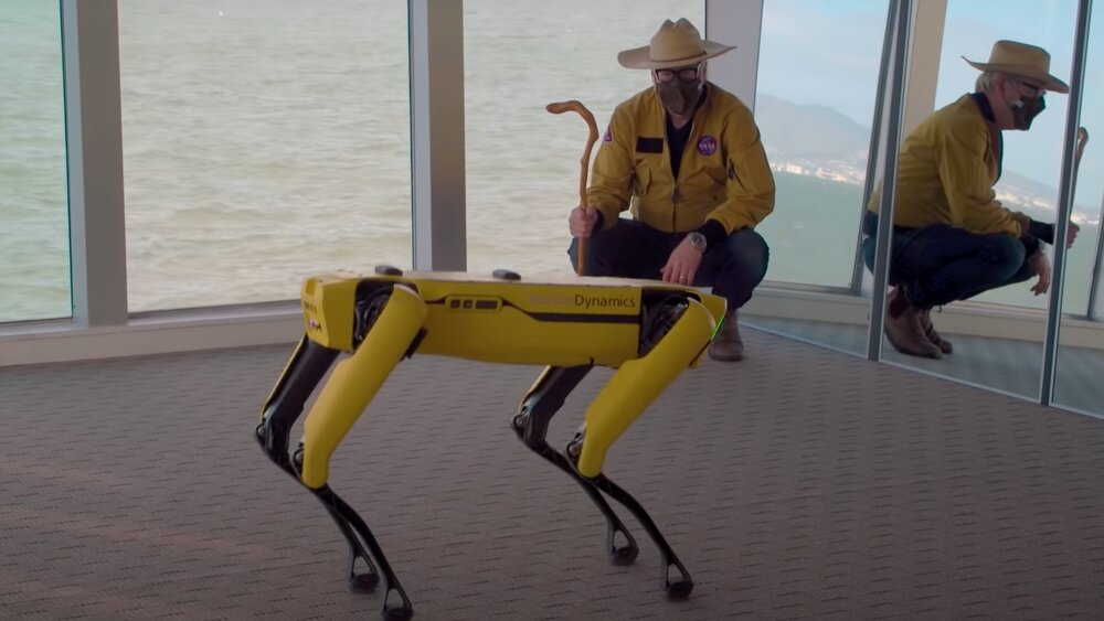 Adam Savage Goes To Boston Dynamics To See How a Robot Dog Learns To Dance