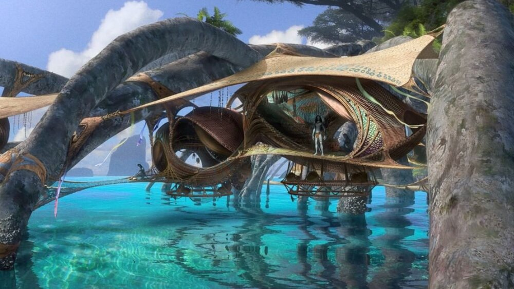 New AVATAR 2 Concept Art Shows Off Pandora Paradise Living