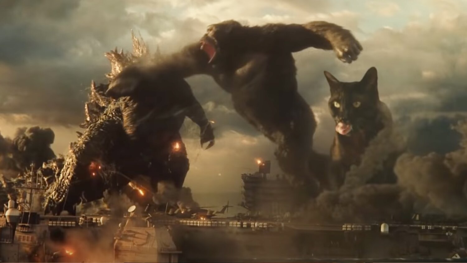 A Giant Cat Faces Off with Godzilla and Kong in Fan-Made GODZILLA VS. KONG Trailer — GeekTyrant