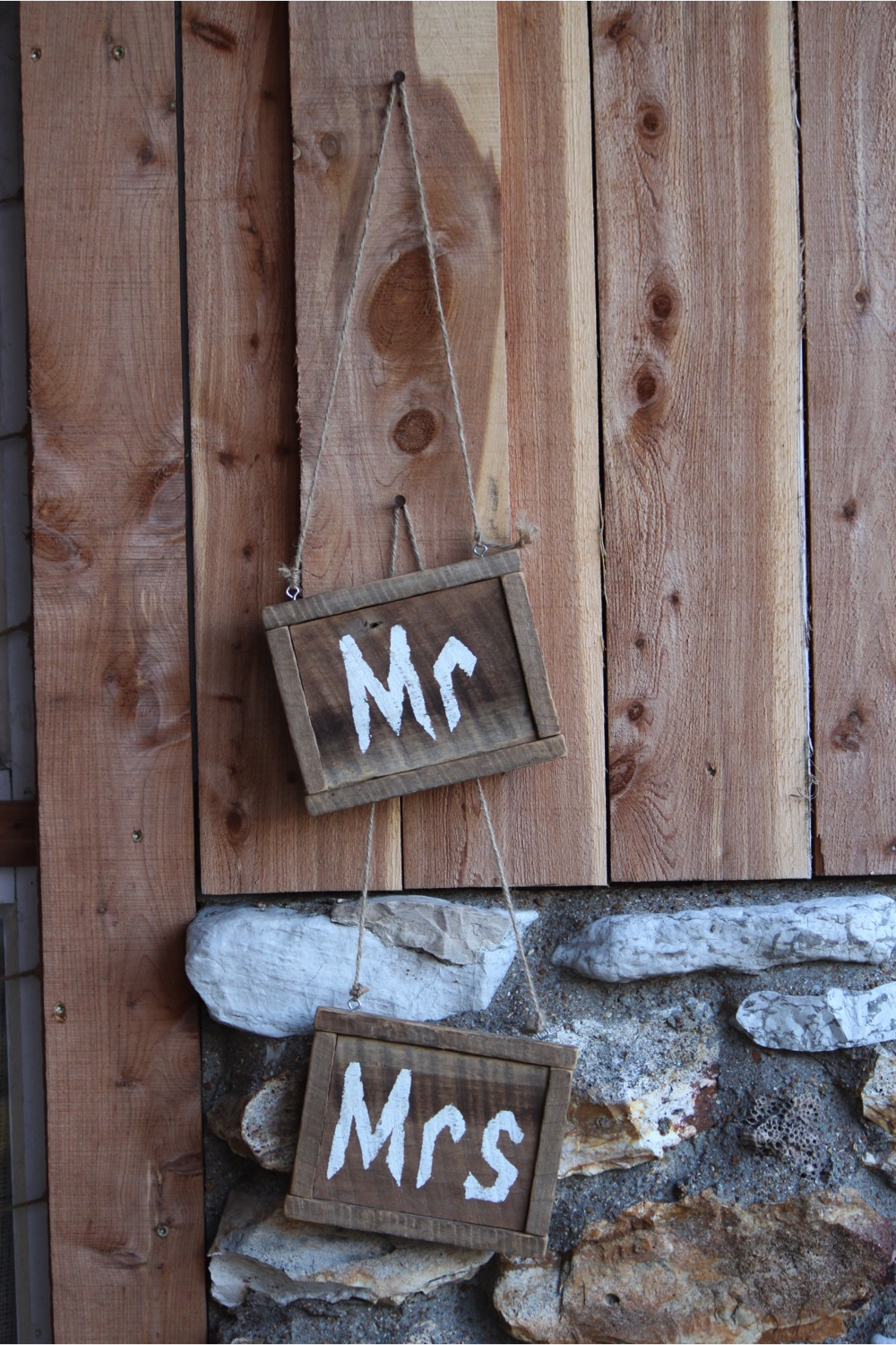#2 - Wood Mr. & Mrs. Signs