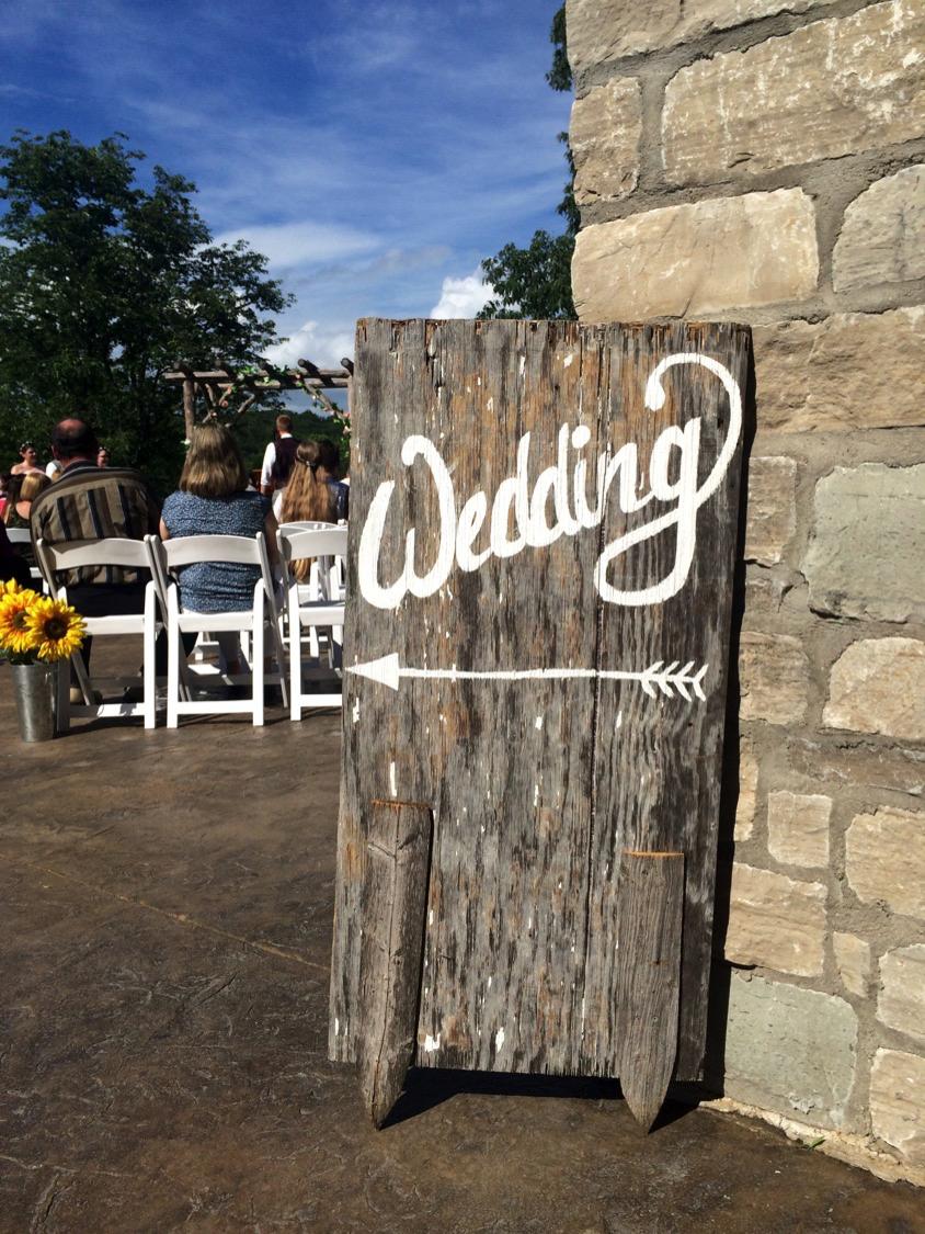 #15 - Wood Wedding Sign