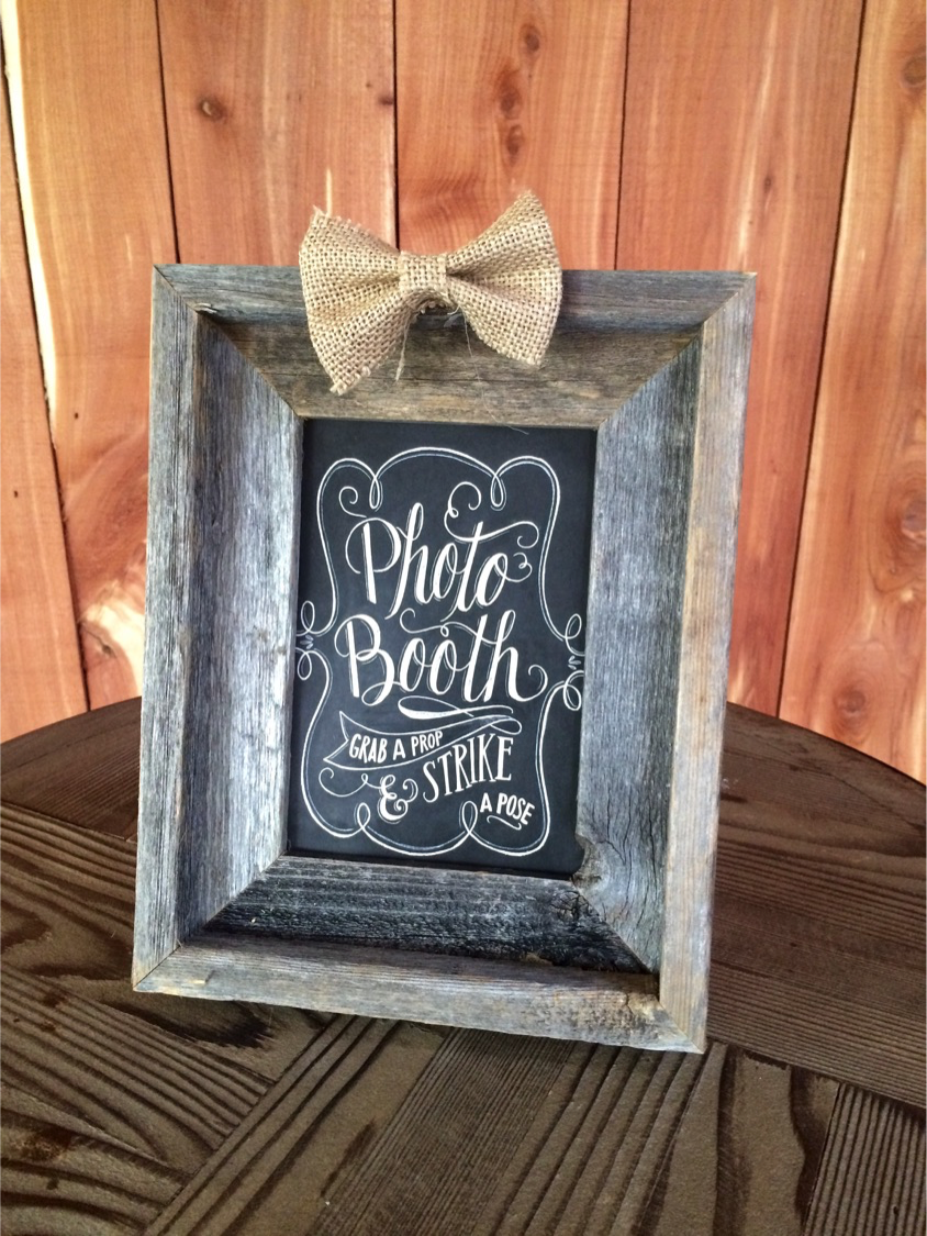 #16 - Wood Photo Booth Sign - Small
