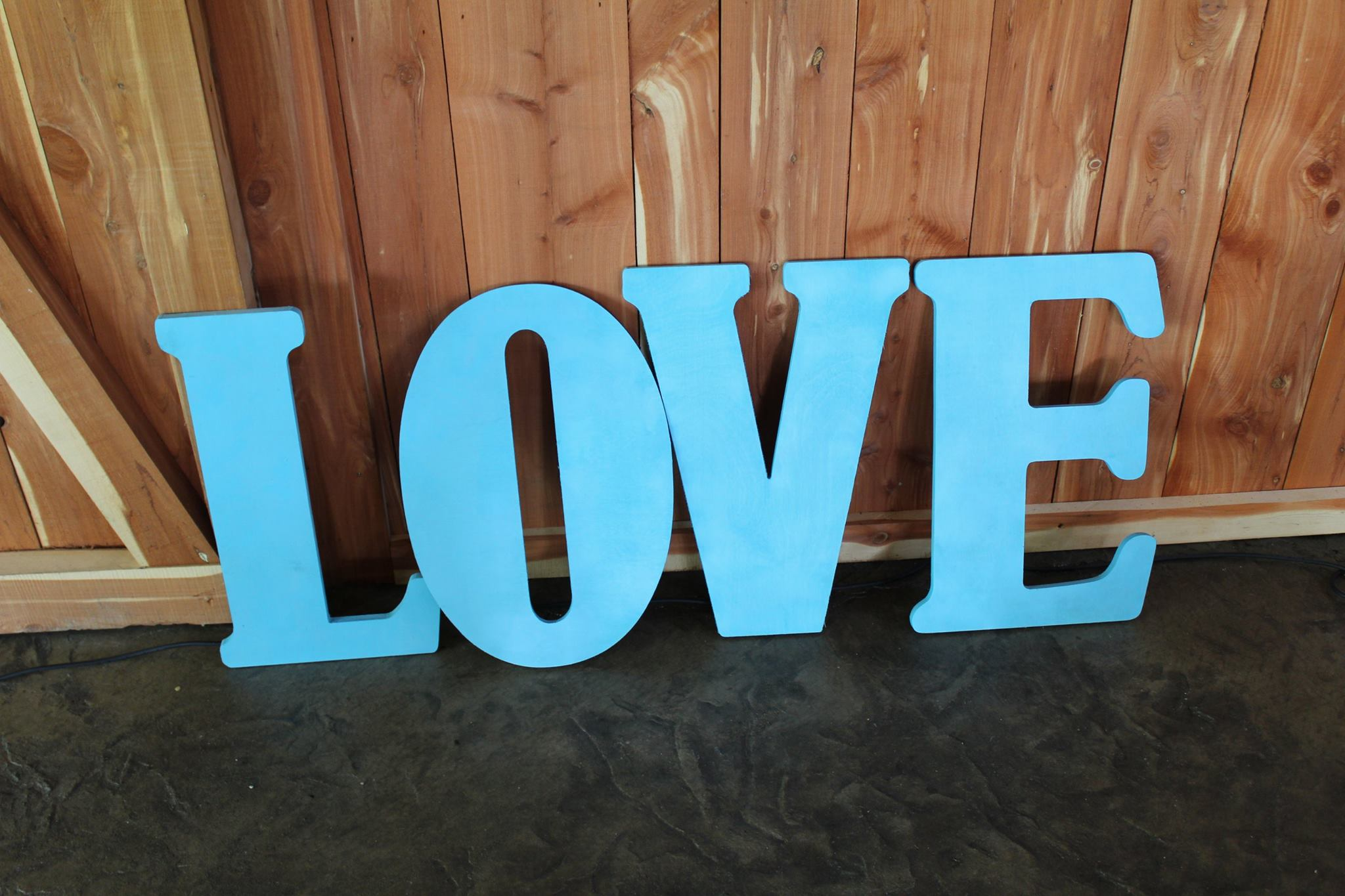 #33 - Blue Love Letters - Great For Photos