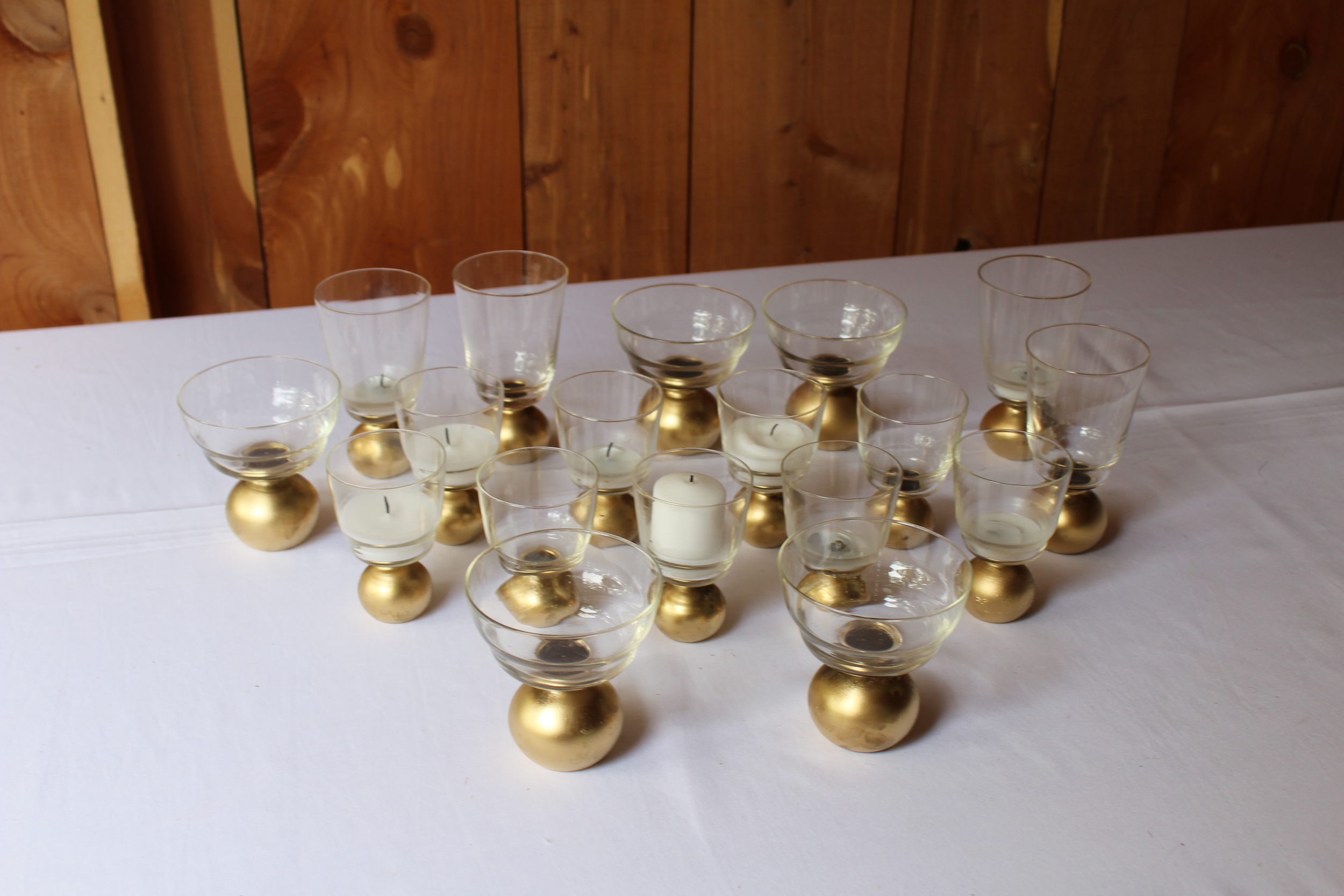 #56 - Clear and Gold Mini Glasses