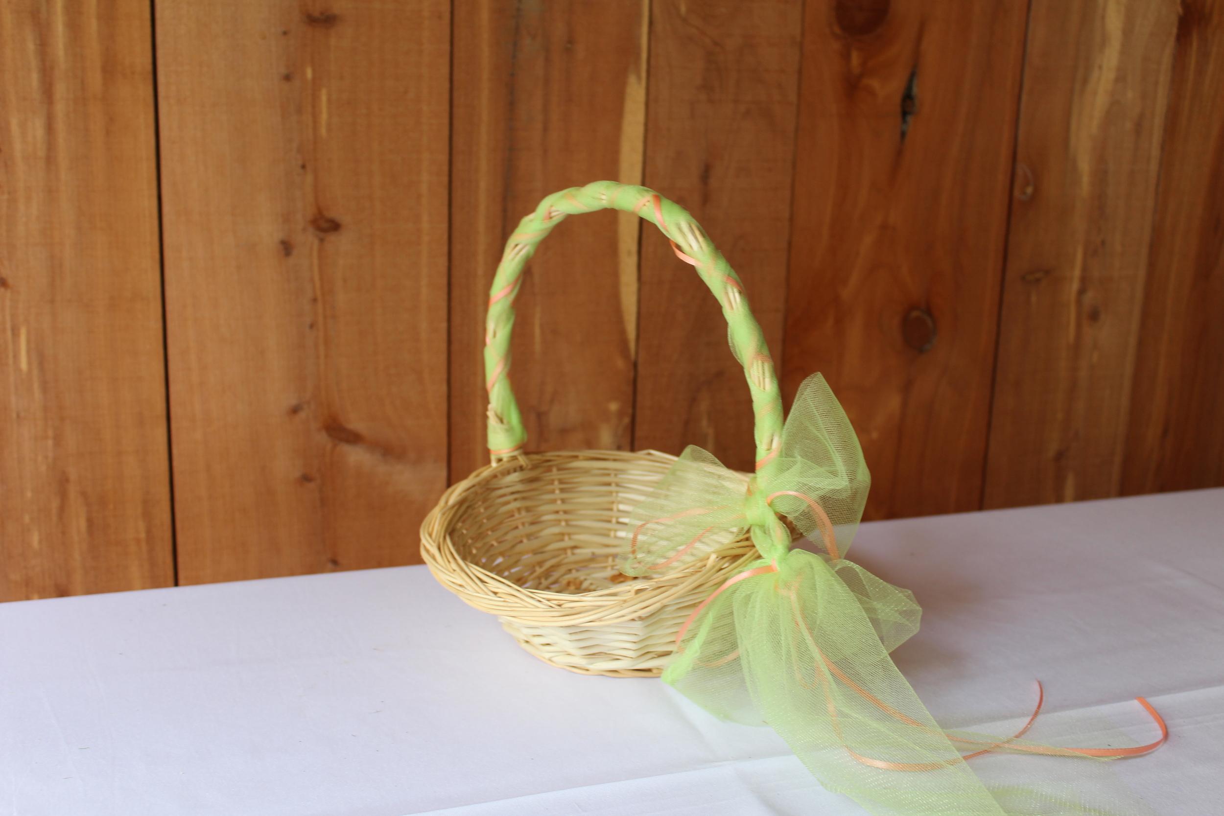 #69 - Green Wicker Basket
