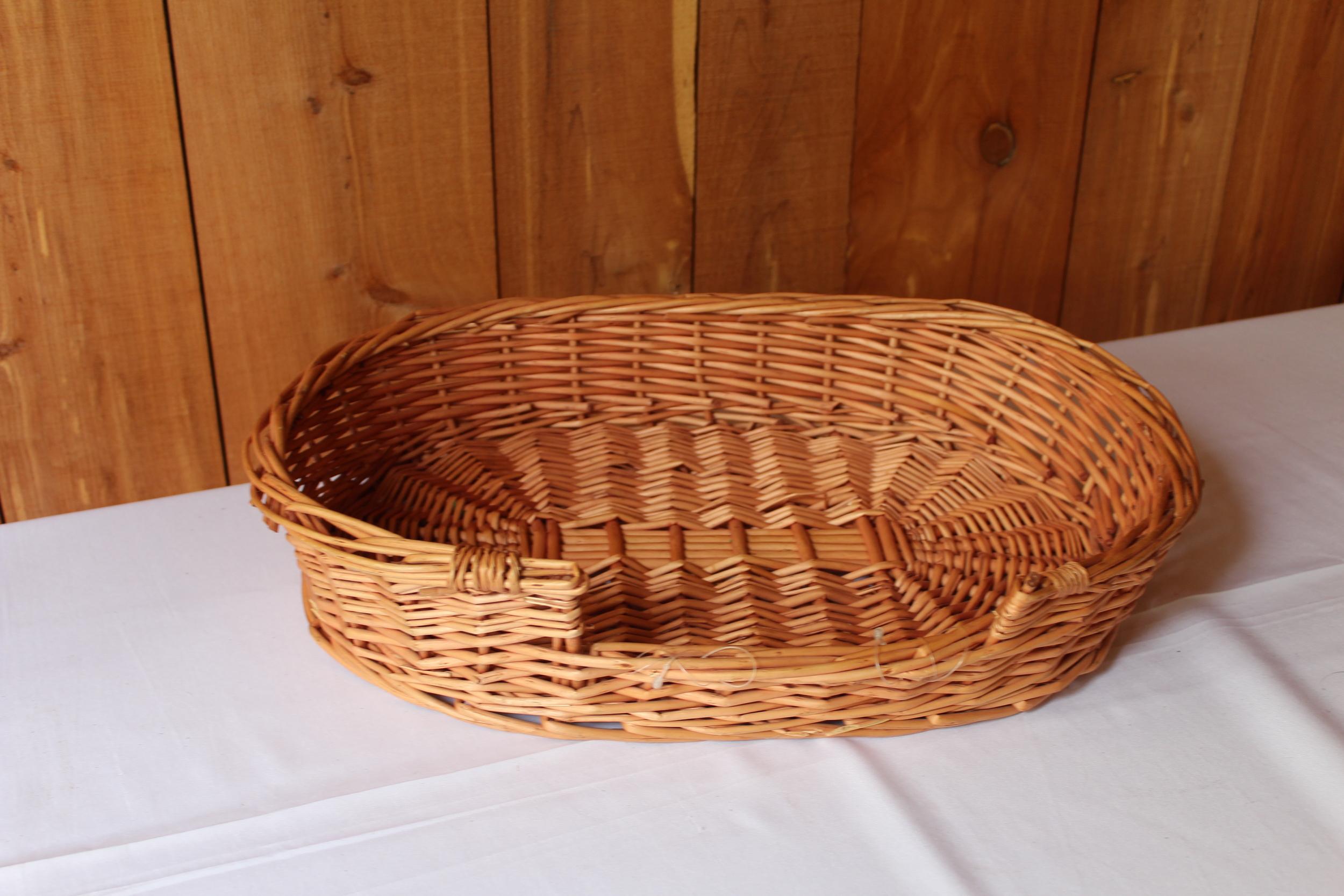 #74 - Flat Wicker Basket