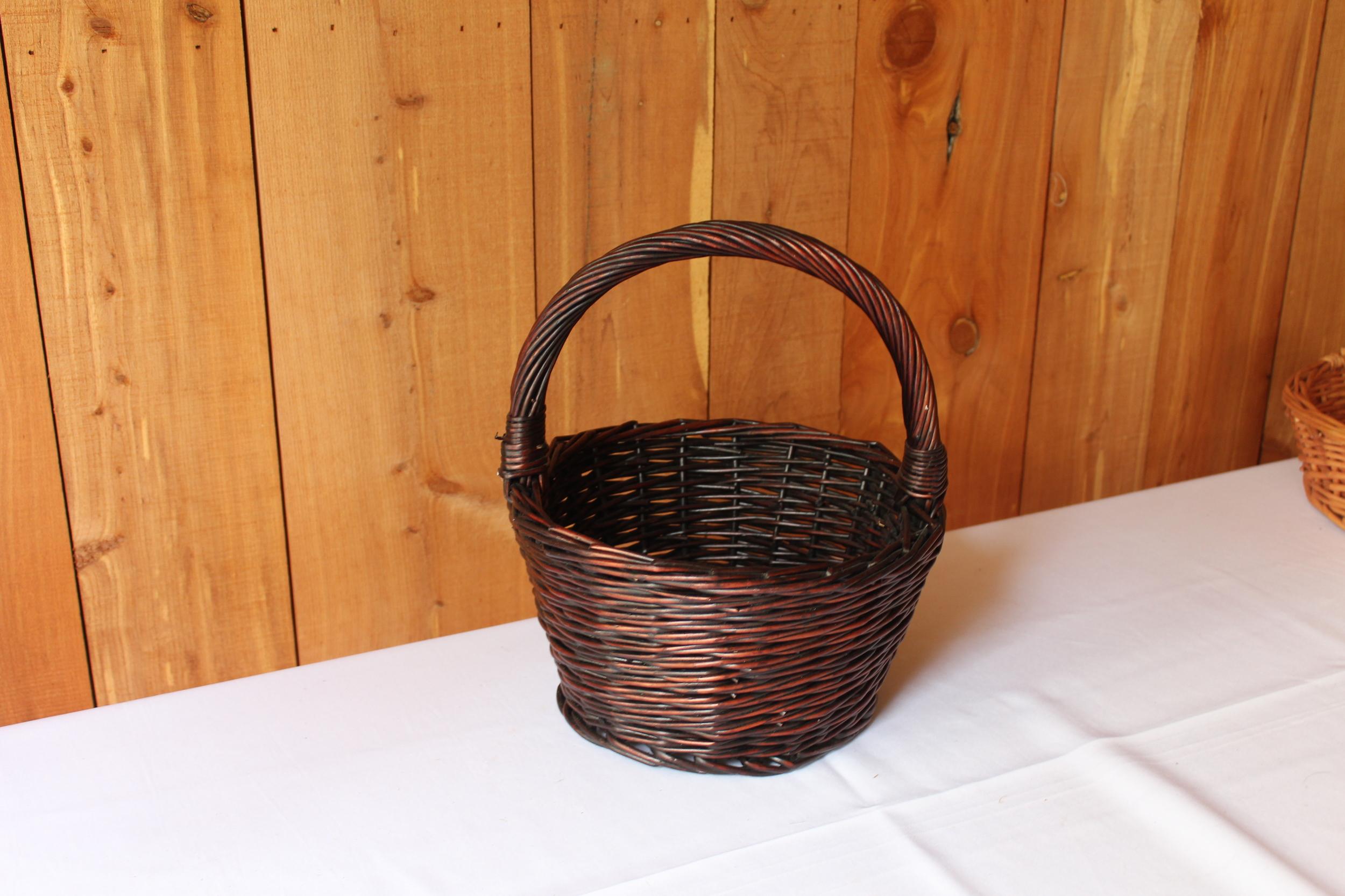 #75 - Dark Wicker Basket