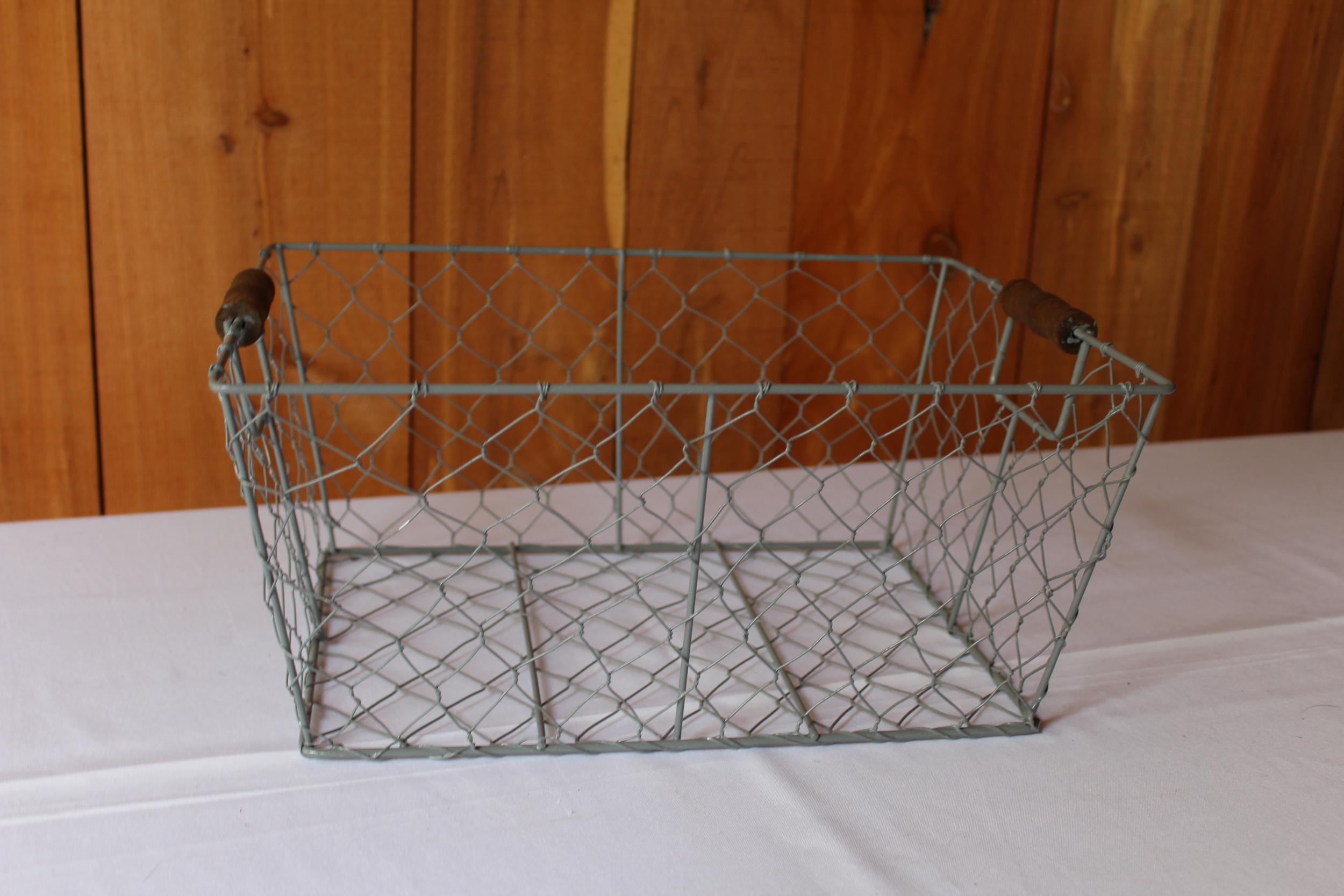 #80 - Blue Wire Basket