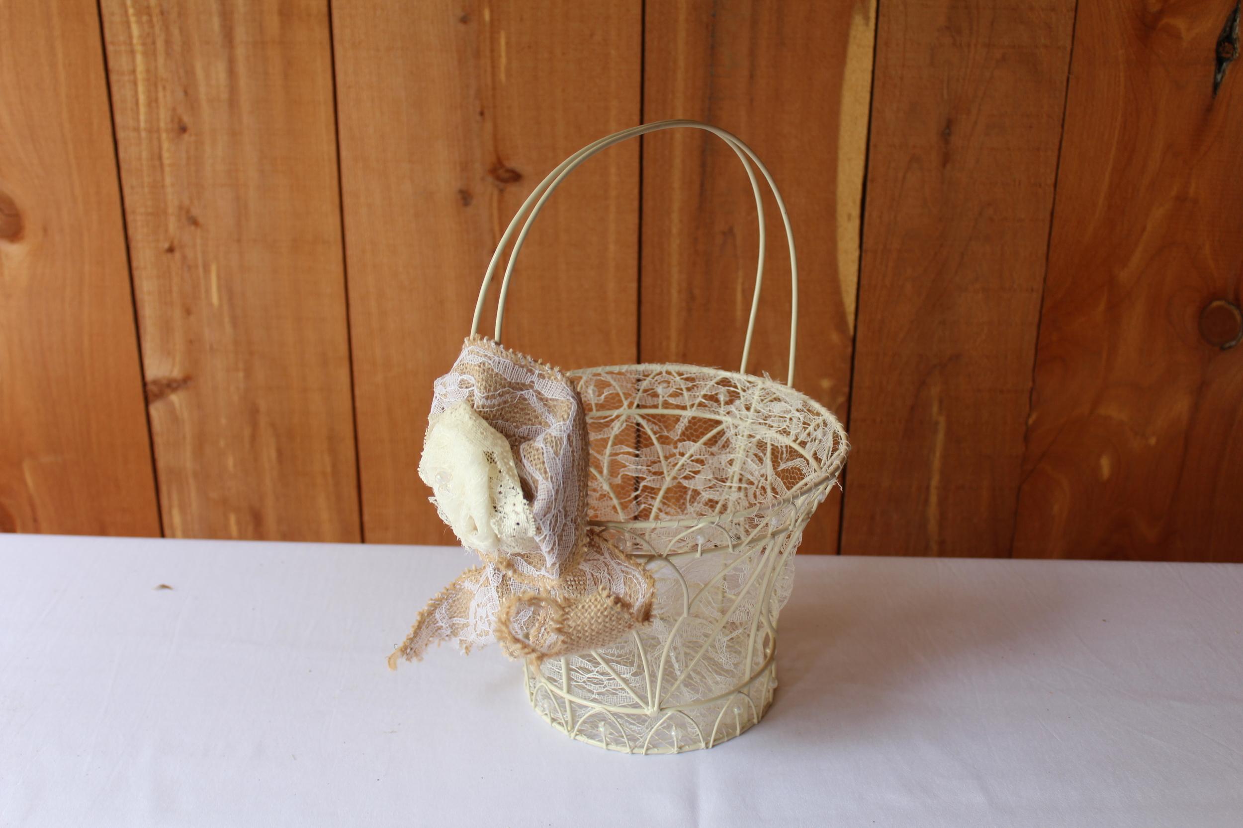 #83 - White Wire Basket