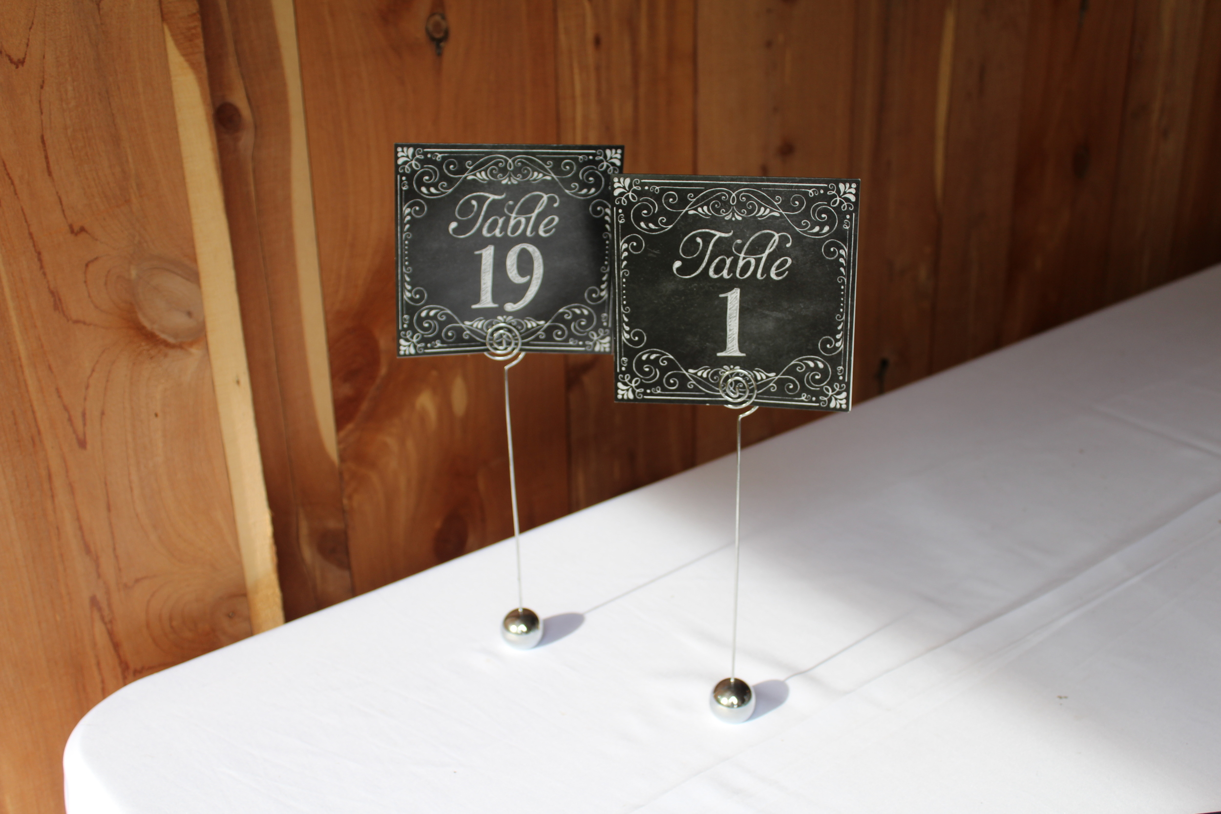 #93 - Table Numbers 1 - 19