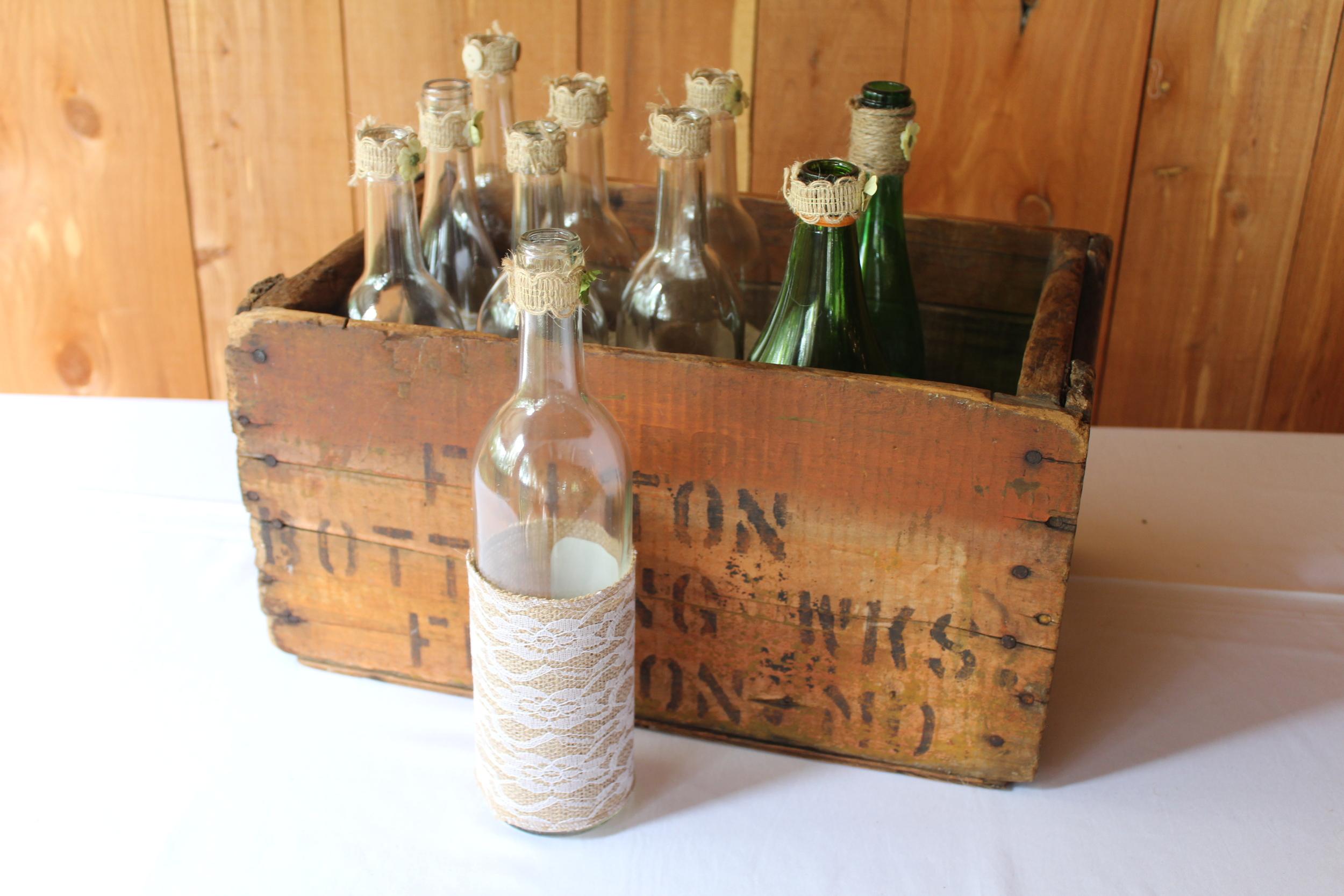 #145 - Clear Centerpiece Bottles