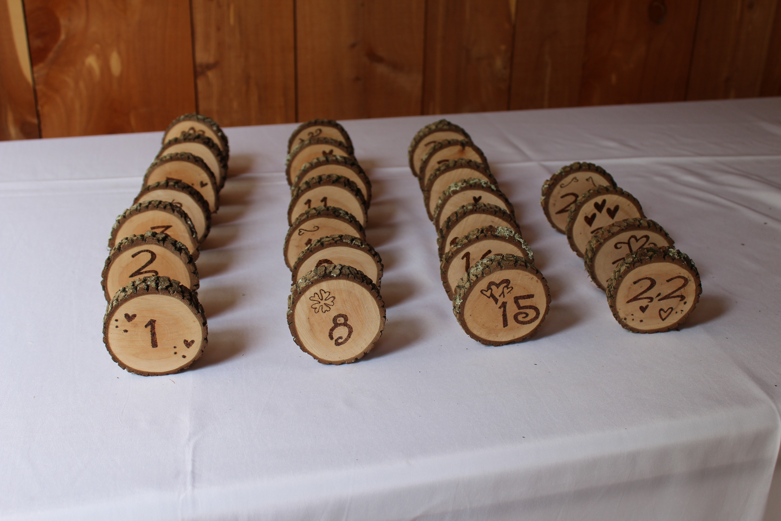 #159 - Wood Table Numbers