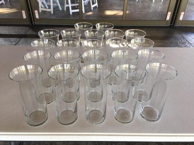 #167 - Medium Clear Vases