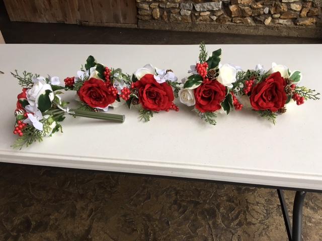 #185 - Red Rose Bundles - Qty 5