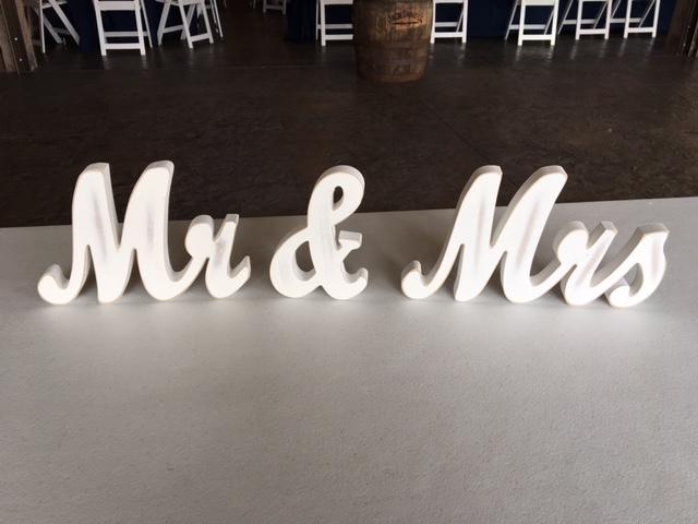 #217 - White Mr. & Mrs. Letters