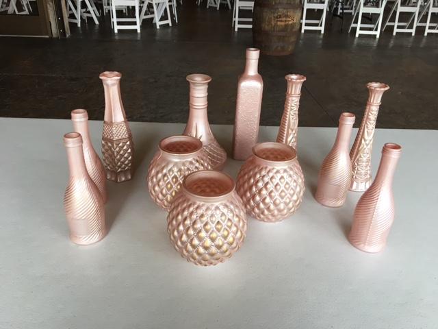 #222 - Rose Gold Vases