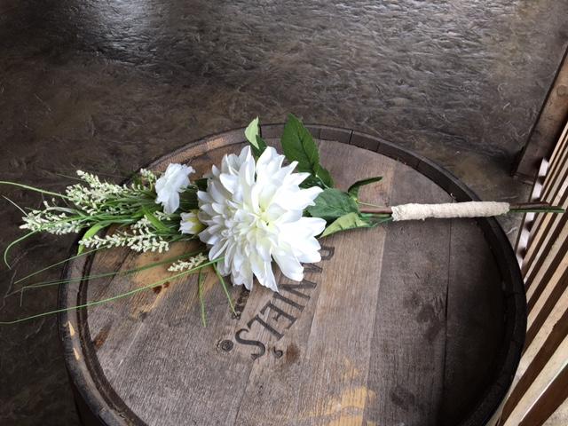 #225 - White Bridesmaid Bouquets (Qty 6)