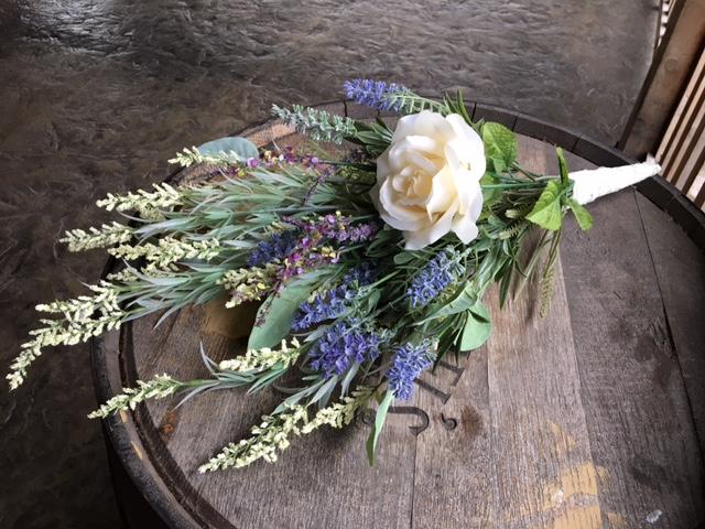 #226 - Off White Bridesmaids Bouquets (Qty 3)