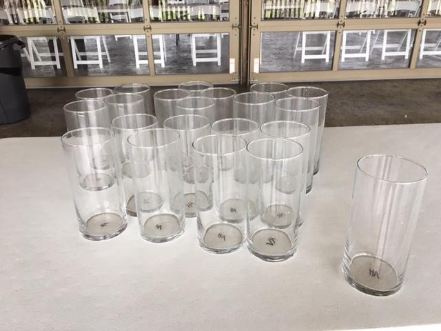 #228 - Glass Vases (Qty 16)