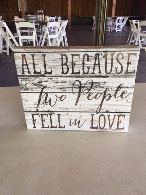 #230 - All Because Two People Fell In Love Sign