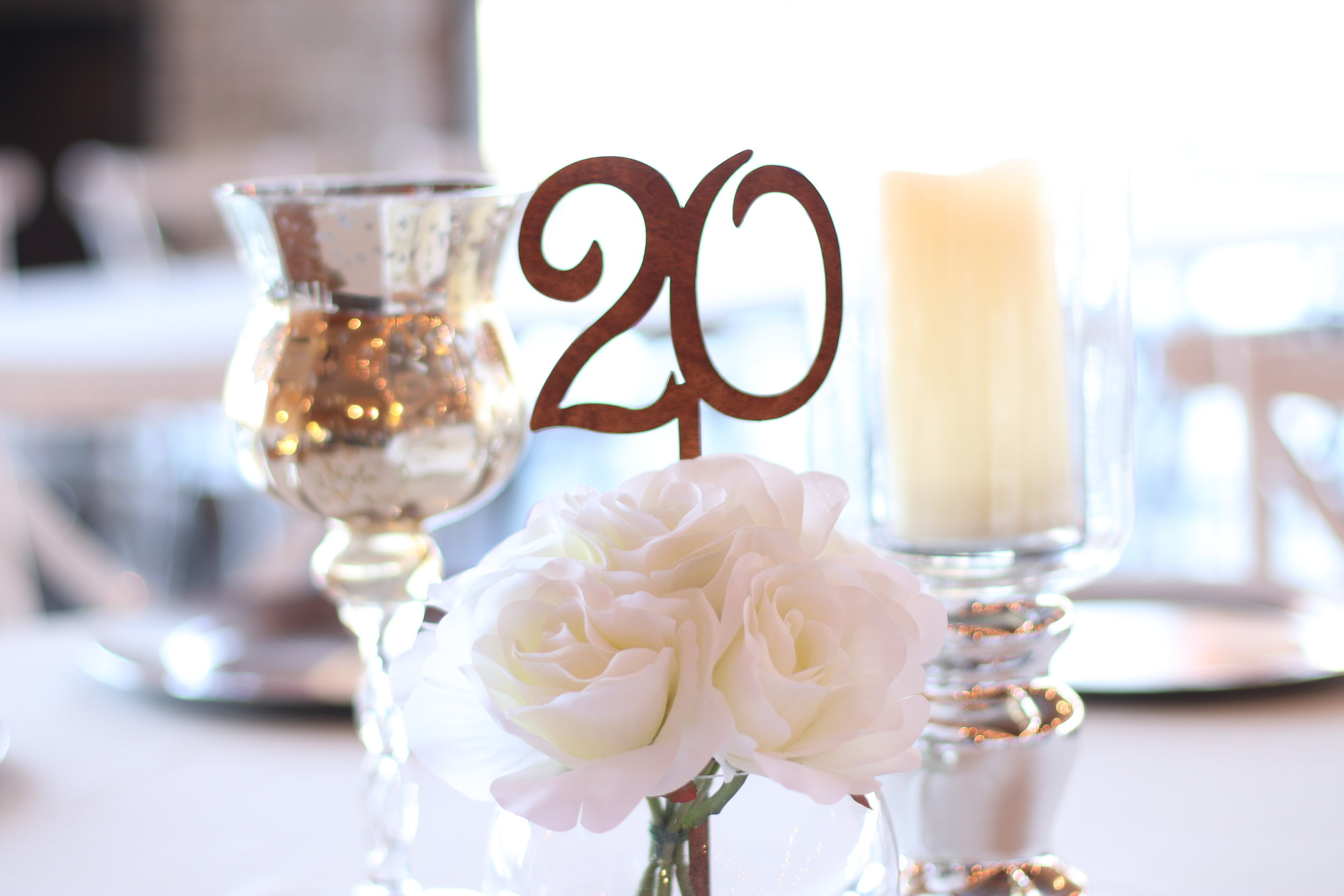 Td 40 20 Wooden Stick Table Numbers Haue Valley St Louis
