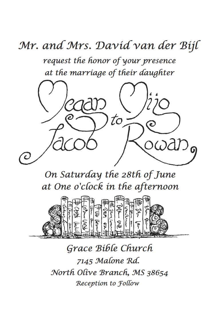 Rowan Wedding Invitation