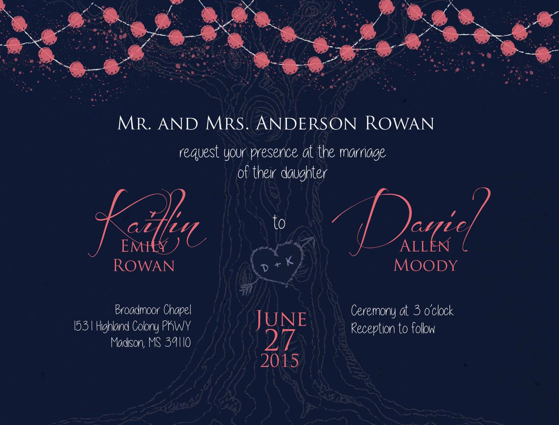 Moody Wedding Invitation