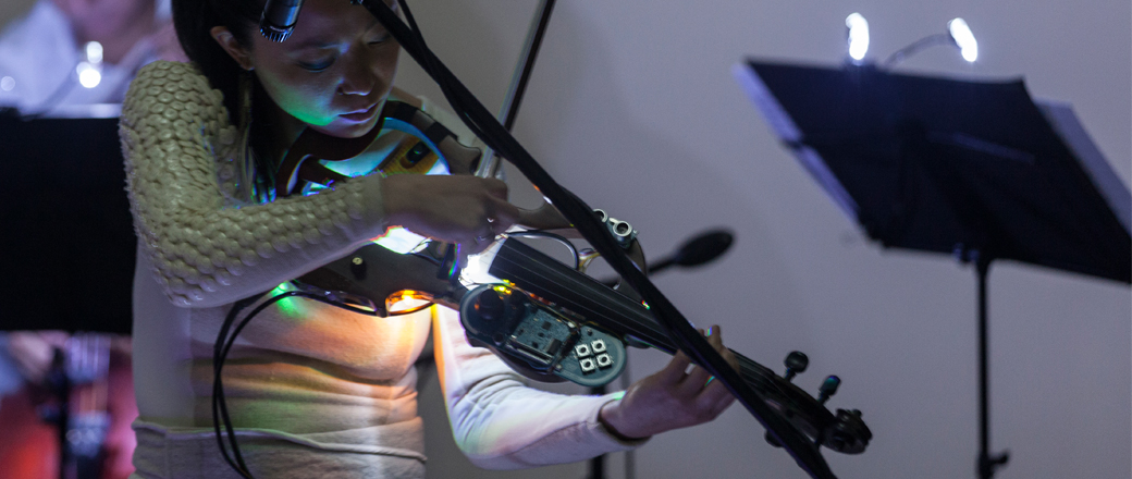 Extended Violin Self Designed Instrument  Photo by Eduardo Hirose  2013