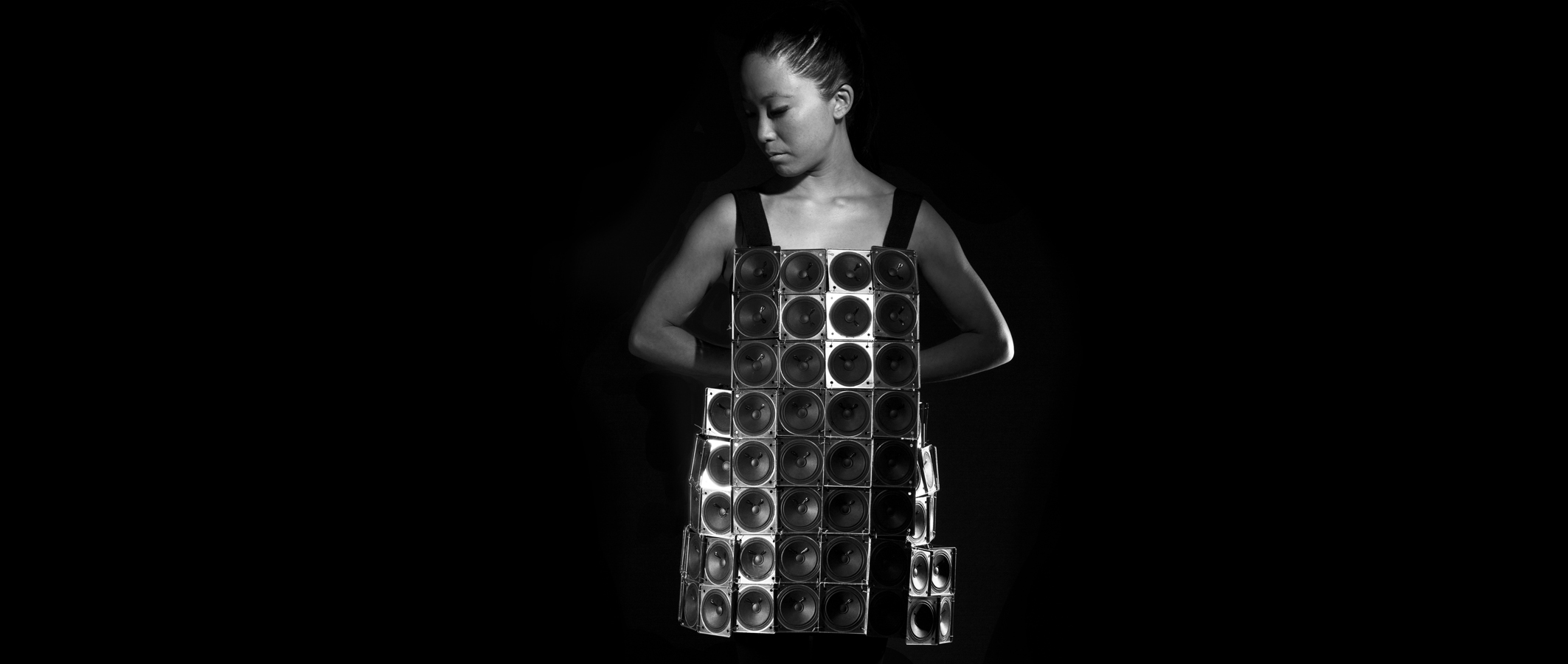 The Speaker Dress Self Designed Wearable Sound Sculpture  Photo by Juan Pablo Aragón  2014