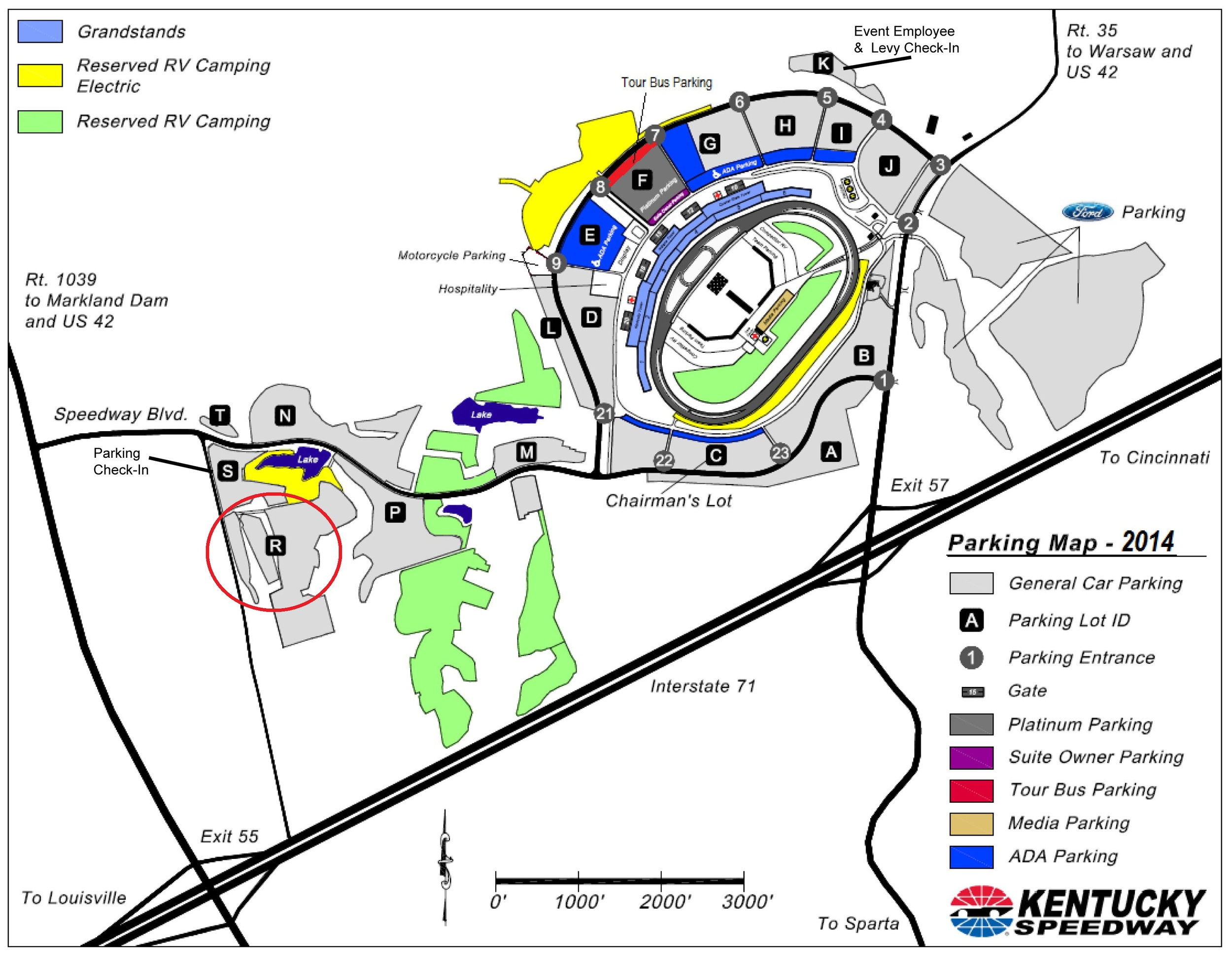 Visit KentuckySpeedway.com for Current Maps. Click Map to View Larger Size.