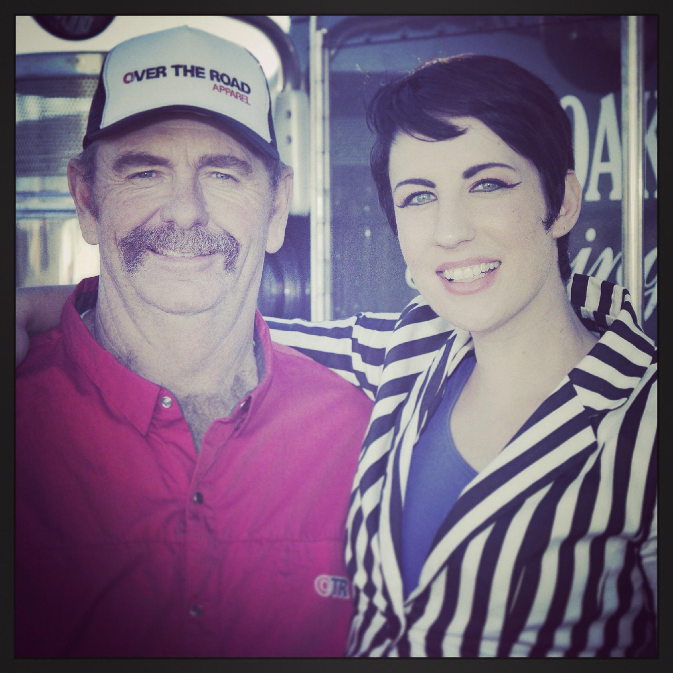Driver Joe Holyoak and I at the OTR Photoshoot last April.