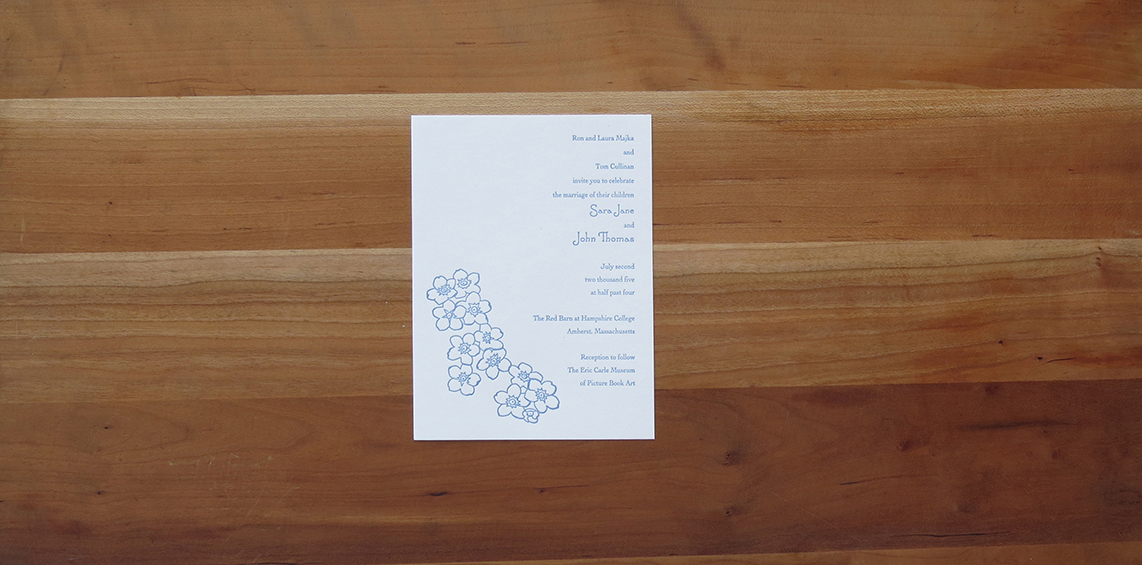 1-color wedding invitation.        2005