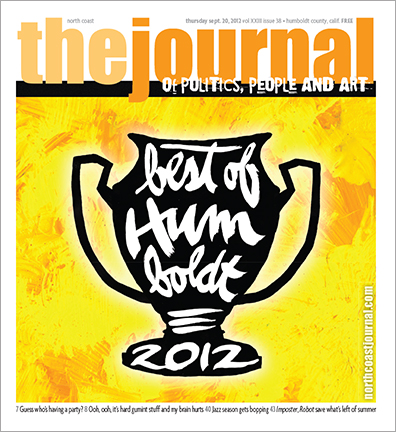 Sept. 20, 2012 cover of the North Coast Journal. Brush and India ink illustration for the annual Best of Humboldt issue. Copyright 2012 North  Coast Journal. All rights reserved.