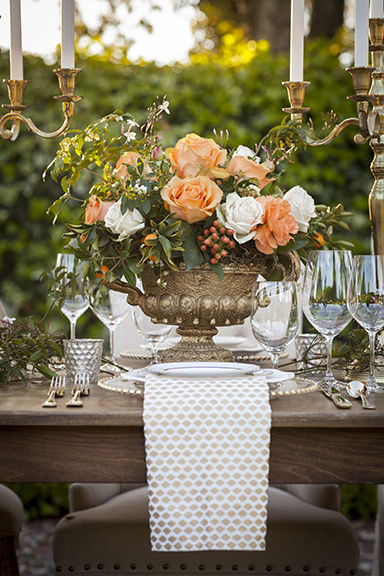 Here's a shot of the table setting. You can see the colors and elegance that I tried to carry through the invitations. After all, it is the invitations that guests receive first… they set the tone for the event and get the guests excited to attend.