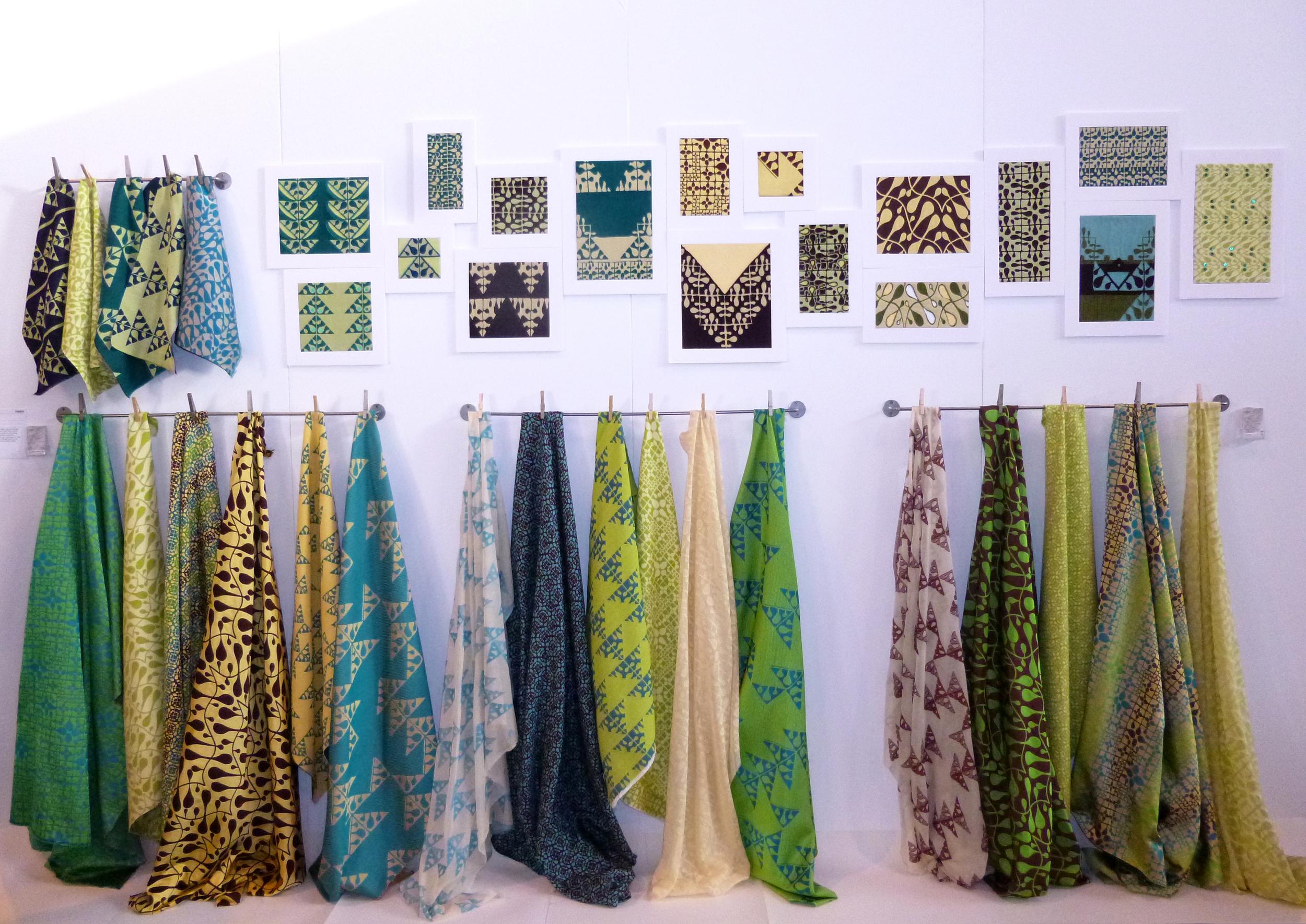 My new fabrics on the stand at Interiors UK