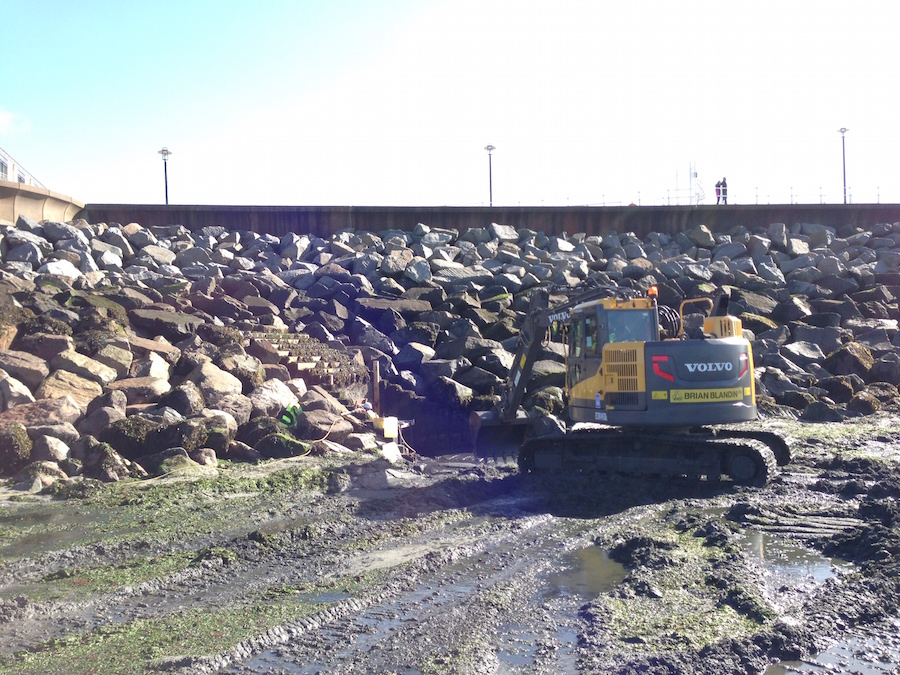 Excavators can be needed as often as once a week in seasons of high winds at some coastal locations